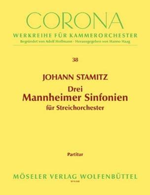 Drei Mannheimer Sinfonien - Partitur - STAMITZ - laflutedepan.com