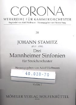 Johann Stamitz - Drei Mannheimer Sinfonien - Stimmen - Sheet Music - di-arezzo.com