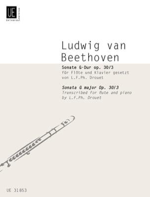 BEETHOVEN - Sonate G-Dur op. 30 n° 3 –Flöte Klavier - Partition - di-arezzo.fr