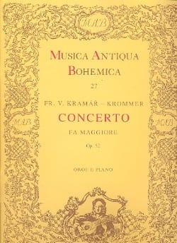 Franz Krommer - Concerto in fa maggiore op. 52 - Oboe piano - Partition - di-arezzo.fr