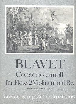 Michel Blavet - Concerto a-moll f. Flöte – Flöte Klavier - Partition - di-arezzo.fr