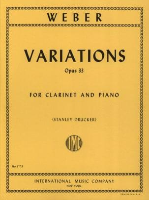 Carl Maria von Weber - Variations op. 33 - Partition - di-arezzo.fr