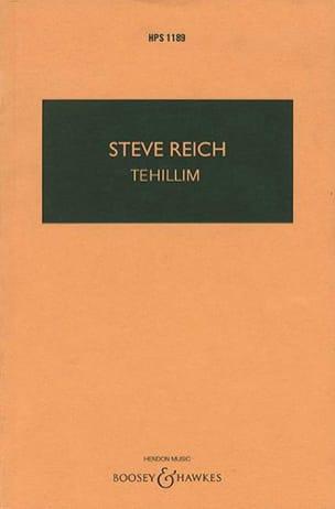 Tehillim - Steve Reich - Partition - Grand format - laflutedepan.com