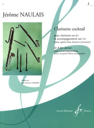 Jérome Naulais - Clarinette Cocktail - Volume 1 - Partition - di-arezzo.fr