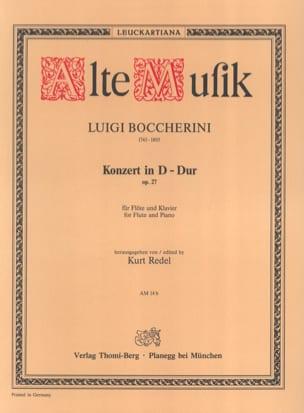 BOCCHERINI - Konzert D-Dur op. 27 - Flöte Klavier - Partition - di-arezzo.fr
