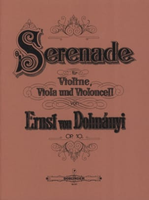 DOHNÁNYI - Serenade op.10 - Stimmen - Sheet Music - di-arezzo.co.uk