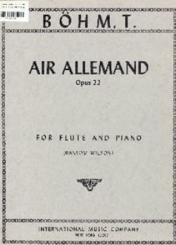 Theobald Boehm - Air allemand op. 22 - Partition - di-arezzo.fr