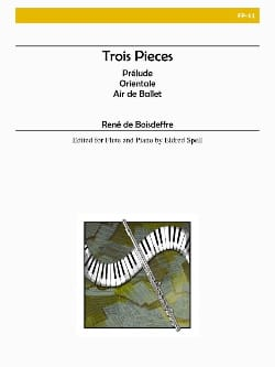 René de Boisdeffre - Trois pièces - Partition - di-arezzo.fr