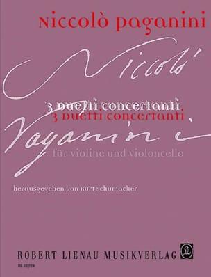 Niccolò Paganini - 3 Duetti concertanti - Partition - di-arezzo.fr