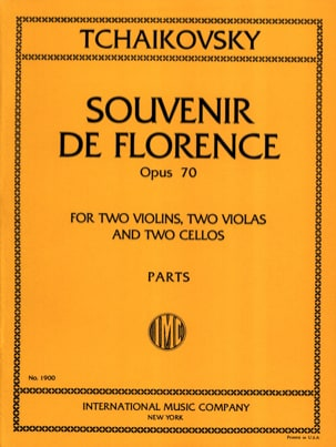 TCHAIKOVSKY - Souvenir of Florence op. 70 - Parts - Sheet Music - di-arezzo.com