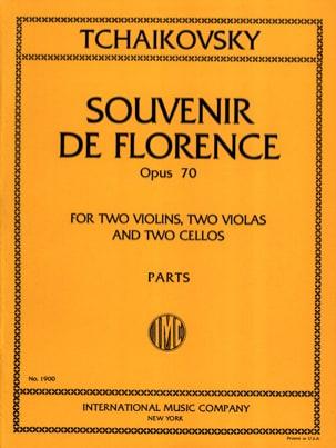 Souvenir de Florence op. 70 - Parts TCHAIKOVSKY Partition laflutedepan
