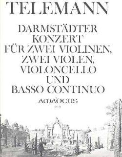 TELEMANN - Darmstädter Konzert -2 Violinen 2 Violen Violoncello Bc - Partition - di-arezzo.fr