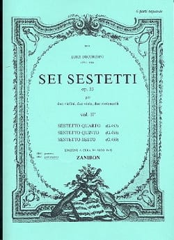 Six Sextuors Op.23 Vol.2 - Parties BOCCHERINI Partition laflutedepan