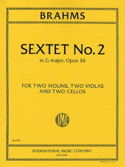 Sextet n° 2 in G major op. 36 - Parts BRAHMS Partition laflutedepan