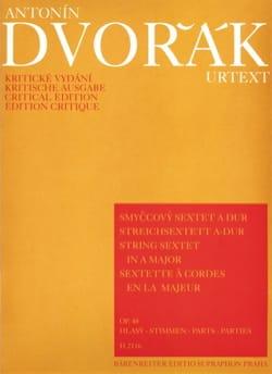 DVORAK - Streichsextett A-Dur op. 48 -Stimmen - Partition - di-arezzo.fr