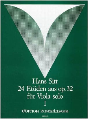 24 Etüden aus op. 32 - Heft 1 - Viola Hans Sitt Partition laflutedepan