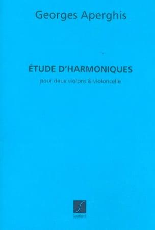 Etude d'harmoniques - Georges Aperghis - Partition - laflutedepan.com