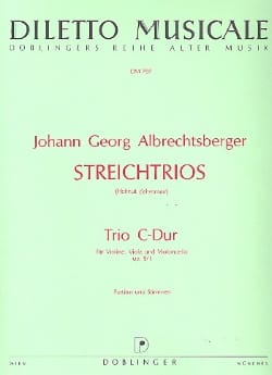 Johann Georg Albrechtsberger - Trio C-Dur op. 9 n ° 1 - Partitur Stimmen - Sheet Music - di-arezzo.co.uk