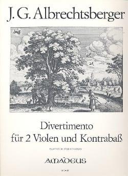 Johann Georg Albrechtsberger - Divertimento in D-Dur -2 Violen Kontrabass - Partitur + Stimmen - Partition - di-arezzo.fr