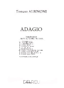 Tomaso Albinoni - Adagio - Violin cello piano - Sheet Music - di-arezzo.com