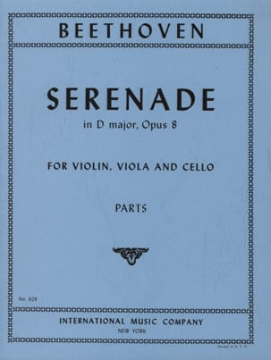 Serenade D-Dur op. 8 - Parts BEETHOVEN Partition Trios - laflutedepan
