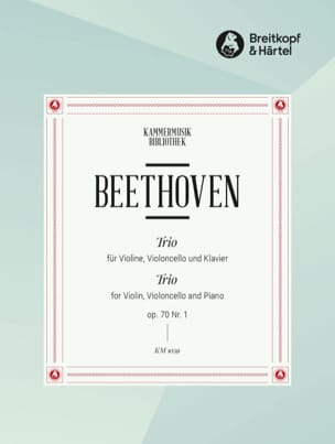 BEETHOVEN - Klaviertrio op. 70 n ° 1 D-Dur - Sheet Music - di-arezzo.co.uk