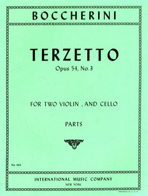 BOCCHERINI - Terzetto op. 54 n ° 3 - Parts - Sheet Music - di-arezzo.co.uk
