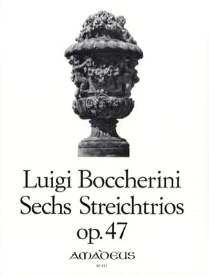 BOCCHERINI - 6 Streichtrios op. 47 - Stimmen - Partition - di-arezzo.co.uk