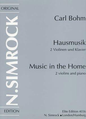 Hausmusik (Music in The Home) - Carl Bohm - laflutedepan.com