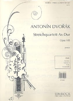 DVORAK - Quatuor à cordes op. 105 Lab majeur - Parties - Partition - di-arezzo.fr