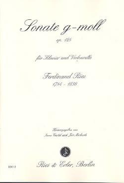 Ferdinand Ries - Sonate g-moll op. 125 - Partition - di-arezzo.fr