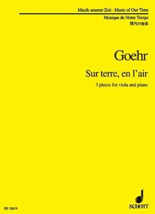 Alexander Goehr - Sur terre, en l'air - Partition - di-arezzo.fr