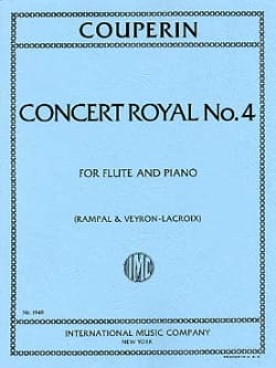 Concert royal n° 4 - Flûte piano COUPERIN Partition laflutedepan