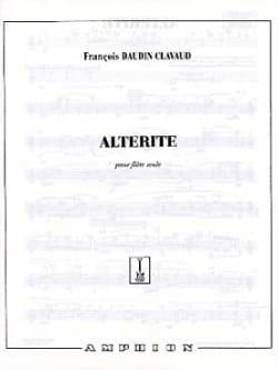 François Daudin-Clavaud - Altérité - Partition - di-arezzo.fr