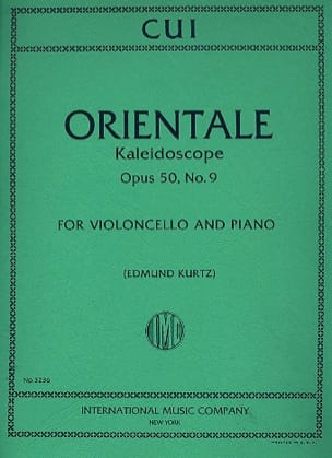 César Cui - Oriental op. 50 n ° 9 - Sheet Music - di-arezzo.co.uk