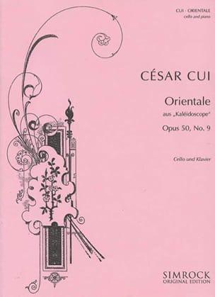 César Cui - Orientale op. 50 n° 9 - Cello - Partition - di-arezzo.fr