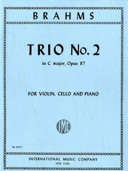 Trio n° 2 C major op. 87 -Parts BRAHMS Partition laflutedepan