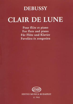 Claude Debussy - Clair de lune – Flûte et piano - Partition - di-arezzo.fr