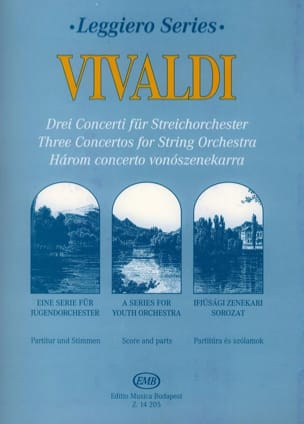 3 Concertos for String Orchestra VIVALDI Partition laflutedepan