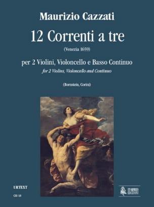 Maurizio Cazzati - 12 Correnti a tre –Parties + conducteur - Partition - di-arezzo.fr