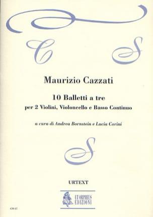 Maurizio Cazzati - 10 Balletti a tre - Partes del conductor - Partitura - di-arezzo.es