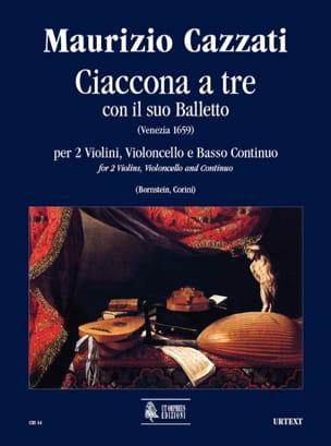 Maurizio Cazzati - Ciaccona to be con il suo balletto - Driver parts - Sheet Music - di-arezzo.co.uk