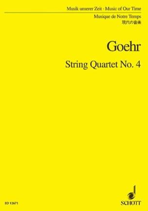String quartet n° 4 - Score - Alexander Goehr - laflutedepan.com