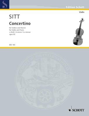 Hans Sitt - Concertino A-Moll op. 93 - Partition - di-arezzo.fr