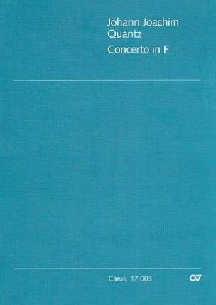 Johann Joachim Quantz - Concerto in F - QV 5 : 162 – Partitur - Partition - di-arezzo.fr