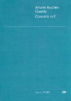 Johann Joachim Quantz - Concerto in F - QV 5 :162 – Flöte Klavier - Partition - di-arezzo.fr