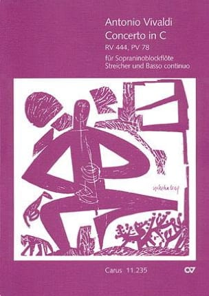 VIVALDI - Concerto in C-Dur RV 444, PV 78 for Sopraninoblockflöte - Partitur - Sheet Music - di-arezzo.co.uk