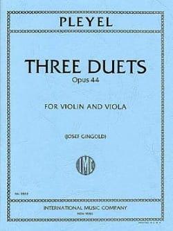 3 Duets op. 44 - Ignaz Pleyel - Partition - Duos - laflutedepan.com