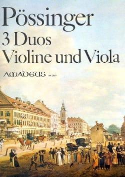 Franz Alexander Pössinger - 3 Duos op. 4 – Violine und Viola - Partition - di-arezzo.fr