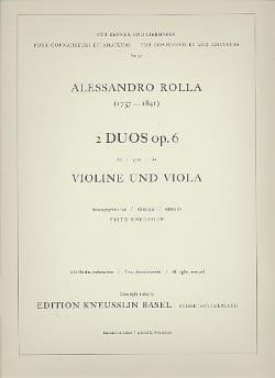 Alessandro Rolla - 2 Duos op. 6 - Sheet Music - di-arezzo.com
